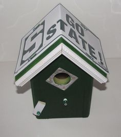 Michigan State Bird House - License Plate Birdhouse - Team Bird House - Go State - Michigan by FurTheBirds on Etsy