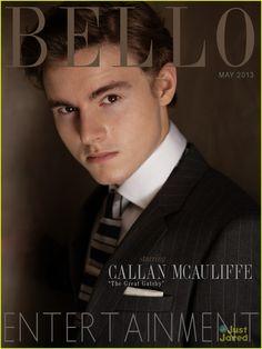 Callan McAuliffe pinstripe suit tie