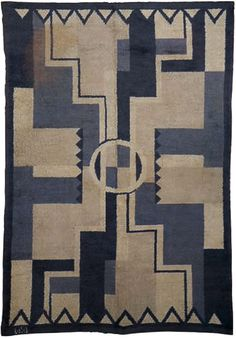 A French Deco Rug by D.I.M. Size: 9'6'' × 6'6'' Circa: 1930