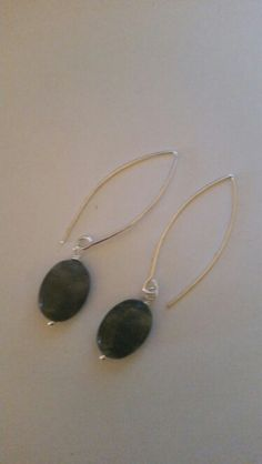 Labradorite and silver earrings.