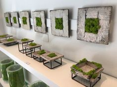 MOSSMANIA unveils tables, lamps, and walls made from springy 'Nordic moss' - During Milan Design Week MOSSMANIA opens its first showroom devoted entirely to interior prod - Moss Wall Art, Moss Art, Indoor Climbing Wall, Deco Nature, Decorative Wall Panels, Plant Wall, Outdoor Landscaping, Green Building, Indoor Plants
