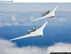 NASA's model for quiet, energy efficient aircraft of the future #airplane #energy