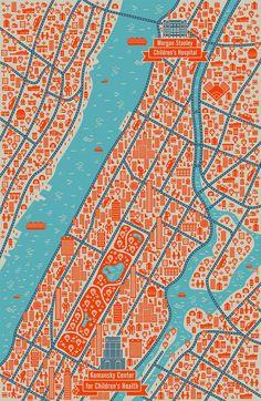 Manhattan Map on Behance