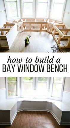 homedecor diy This gorgeous built-in bay window seating is a project you can totally do yourself - its perfect for dining room seating or a bay window in a living room! Here are all the details on how to build DIY banquette seating for your bay window. Banquette Seating In Kitchen, Kitchen Benches, Built In Dining Room Seating, Kitchen Booth Seating, Kitchen Booths, Kitchen Banquette Seating, Kitchen Tables, Home Renovation, Home Remodeling
