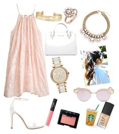 """""""pink chic"""" by maddaybay on Polyvore featuring Calypso St. Barth, Zara, Michael Kors, Bloomingdale's, Stella & Dot, Le Specs and NARS Cosmetics"""