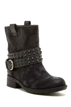 Studded Strap Boot
