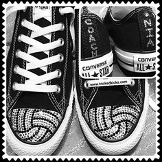 582bfd74cdf9 Check out these personalized Volleyball blinged Converse shoes