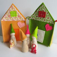 Waldorf toys alle natuurlijke-Sweet reizende gnome familie