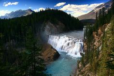 Wapta Falls, Kicking Horse River in Yoho National Park, B.C