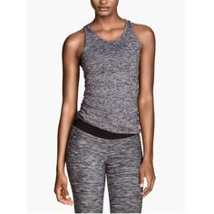 Yoga Tank Brand new with tags racer back yoga tank in grey melange. NOT LULU - listed for exposure. It's H&M. SAVE 30% with a bundle! lululemon athletica Tops Tank Tops