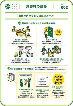 地震ITSUMO.COM » 2 災害時の連絡 Leaflet Design, Graph Design, Flyer Design, Book Cover Design, Book Design, Layout Design, Information Design, Japan Design, Interactive Design