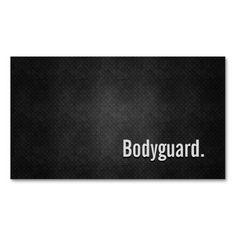 Bodyguard Cool Black Metal Simplicity Business Card Templates
