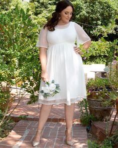 Wedding Sundress, Courthouse Wedding Dress, Wedding Dress Sleeves, Informal Wedding Dresses, Civil Wedding Dresses, Wedding Dresses Plus Size, Wedding Dress For Short Women, Wedding Gowns, Plus Size Elopement Dress