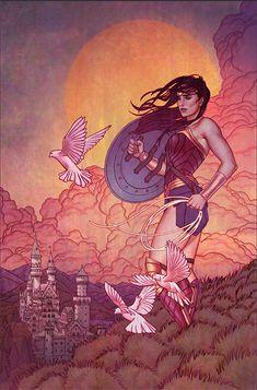 Wonder Woman by Jenny Frison Comic Book Artists, Comic Books Art, Comic Art, Wonder Woman Art, Wonder Woman Comic, Wonder Man, Dc Comics Art, Marvel Dc Comics, Character Drawing