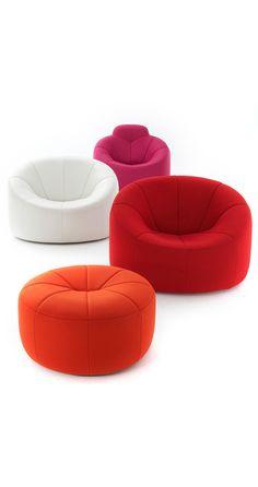 Pumpkin by Ligne Roset Ligne Roset, Modern Armchair, Sofa Chair, Chester, Industrial Design, Bean Bag Chair, Modern Furniture, Chairs, Pumpkin