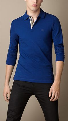 Burberry Brit Long Sleeve Polo Shirt