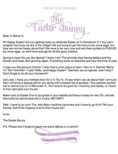1000 images about easter bunny letters on pinterest for Letter to easter bunny template