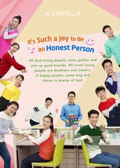 """Worship God in Spirit and in Truth   Worship God in Spirit and in Truth """"It's Such a Joy to Be an Honest Person""""  Honest people, come quickly, let's talk heart to heart. All God-loving people, come gather and join as good friends. One, two, three, we're all true friends. All truth-loving people are brothers and sisters. (Family!) O happy people, come sing and dance in praise of God. Watch Christian Music Video now."""