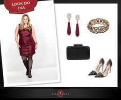 A noite de hoje merece um look especial! Aposte no vestido burgundy, uma cor quente e sensual, ideal para deixar seu amor ainda mais apaixonado por você!