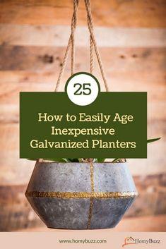 #homybuzz #galvanizedplanters #fall #homecedor Galvanized Planters, Decorating Tips, Outdoor Decor