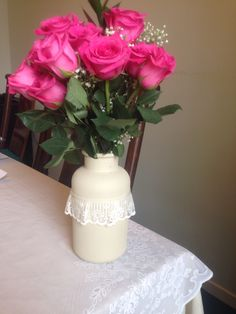 Homemade flower vase!