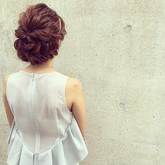 Kaneko Mayumi | ナチュラル,モテ・愛され,ヘアアレンジ,結婚式ヘアアレンジ,NYLONヘアアレンジ | 6月26日 - HAIR