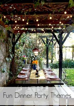Have both lavish and simple dinner parties for my friends