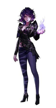 Human Female Mesmerist or Sorcerer - Pathfinder PFRPG DND D&D d20 fantasy