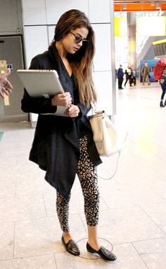 Leopard Pants Black Cardigan Black Jacket Black Blouse Black T Shirt Black Oxfords Casual Work