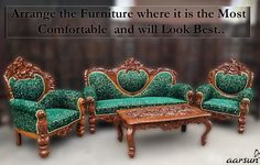 "We are ""Aarsun"", India's Top brand - in Premium, Royal Handicrafts Wood Furniture with an experience of years in handcrafted furniture. Made in India Furniture Sofa Set, Wooden Furniture, Luxury Furniture, Living Room Furniture, Wooden Window Design, Wooden Windows, Royal Sofa, Wooden Sofa Set, Royal Design"
