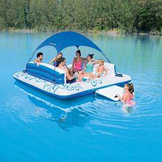 Rafting, Inflatable Floating Island, Lake Rafts, Lake Floats, Lake Toys, Cool Pool Floats, Inflatable Kayak, Floating In Water, Floating Canopy