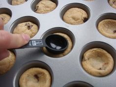 EASY mini chocolate chip cookie cups tutorial