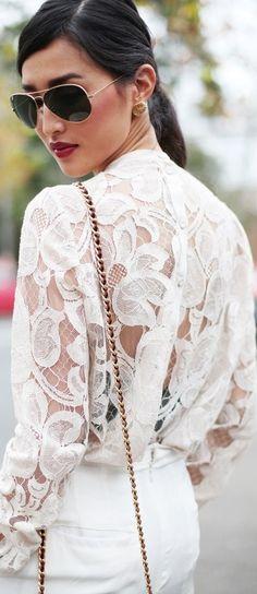 Beautiful white lace.