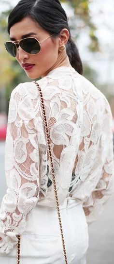 lace tops, summer fashions, blous, red lips, summer outfits, pepper, white lace, style summer, summer clothes