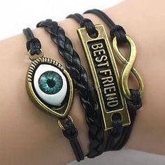 lureme®best multicamadas amigo pulseira olho do tecido (cores sortidas) – BRL R$ 17,07