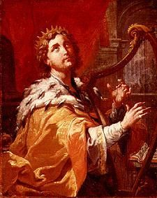 Image: Anton Kern - King David at the harp game