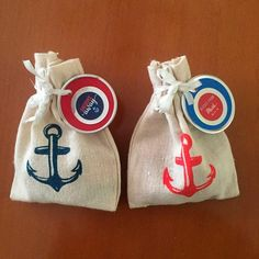 "Favors for nautical themed baby shower. Little sacs from Oriental Trading and perosonalized labels. ""Kisses from baby! Dad Birthday, Boy Birthday Parties, Baby Shawer, Baby Love, Boy Baby Shower Themes, Baby Boy Shower, Baby Shower Marinero, Juegos Baby Shower Niño, Sailor Party"