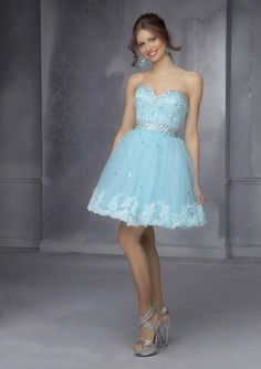 2015 New Arrival Mini Sweetheart Beading Waist Homecoming Dresses Light Blue Beige Crystal Lace Ball Gown Short Cocktail Graduation Party Gown
