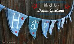 Fun and festive Fourth of July denim garland | #BabyCenterBlog