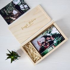PHOTO USB wood box - Photo and Usb - Photography box - Memories box - Custom usb box - Wood boxes logo - logo - wooden usb box - photo Wooden Photo Box, Wooden Gift Boxes, Wooden Gifts, Photographer Packaging, Usb Packaging, Usb Box, Photo Boxes, Photo Packages, Photography Gifts