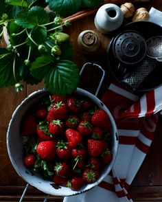 Covet Garden Blog, photograph by Andrew Grinton  Nicole Young on Strawberries.