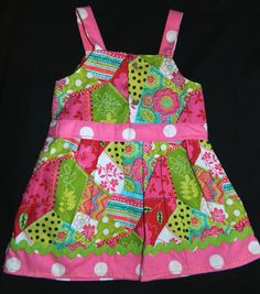 Baby Girl Dress with Matching Diaper Cover  by TeriClothCreations, $44.00