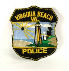 VA Virginia Beach Virginia Police Patch Lighthouse