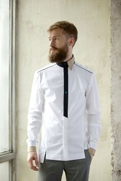 Long sleeve shirt in white colour I'M important by imyourshirt, $140.00