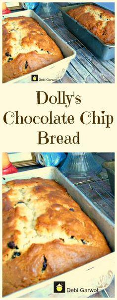 Dolly's Chocolate Chip Cake. Very easy recipe and a family favorite! Dolly's Chocolate Chip Cake. Very easy recipe and a family favorite! Easy Cake Recipes, Sweet Recipes, Bread Recipes, Dessert Recipes, Cooking Recipes, Bread Cake, Dessert Bread, Chocolate Chip Bread, Chocolate Morsels