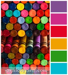 A colorful palette based on crayons!