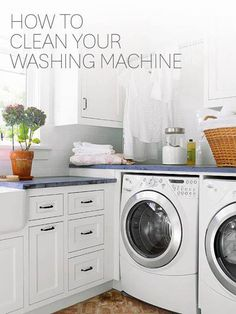 Clean your washing machine with these quick and easy steps: http://www.bhg.com/homekeeping/laundry-linens/tips-checklists/how-to-clean-washing-machine/?socsrc=bhgpin081614washingmachine