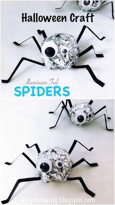 Fun Halloween Spider Craft for Kids.