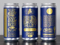 Theory Brewing Co Crowler Label