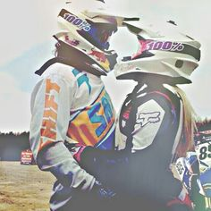 couple, love, and motocross Bild